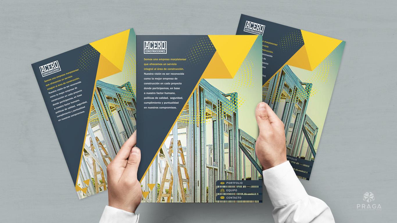 Acero Construcciones | Diseño de carpeta