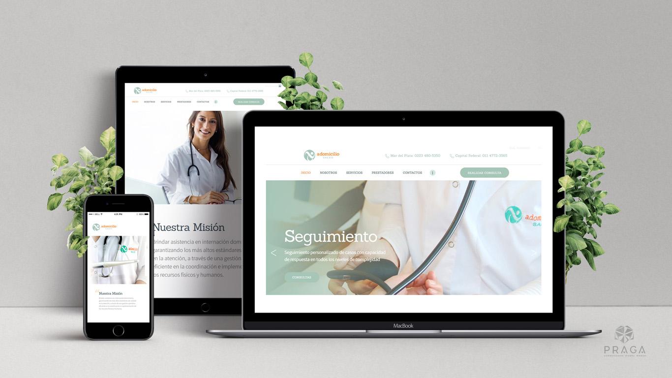 A Domicilio salud | Diseño Web