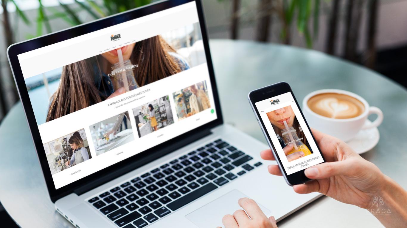 Zumex Argentina diseño web